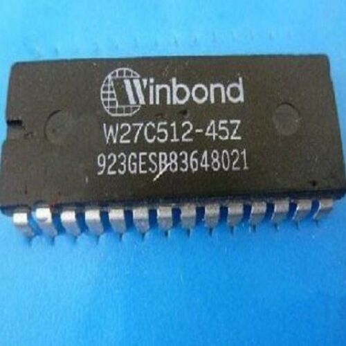 5PCS Winbond W27C512-45 DIP28 64K8 bitselectrically erasable EPROM New