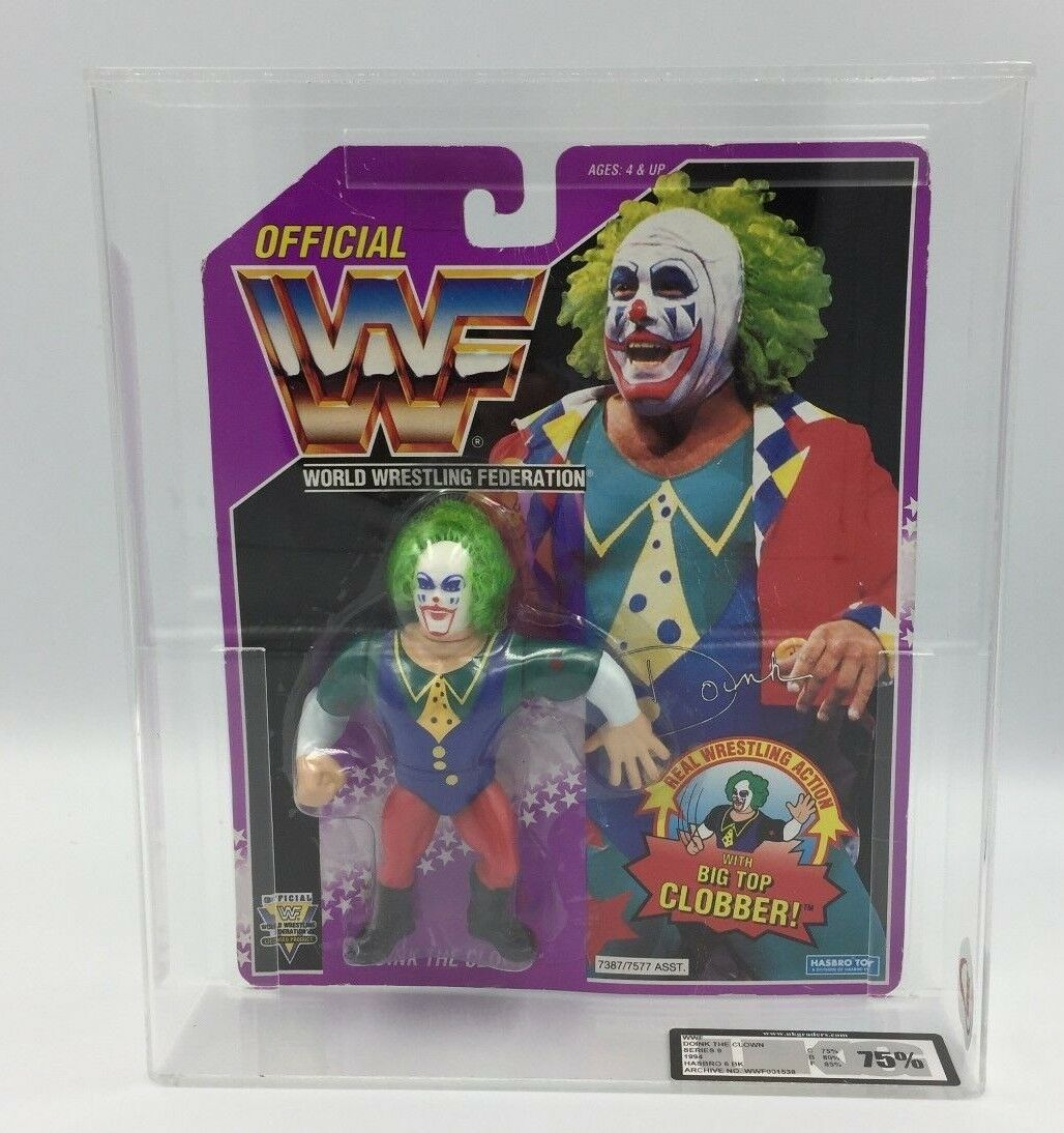 WWF Hasbro Doink The Clown, 1994, Series 9 Carded Figure-UKG not AFA GRADED 75%