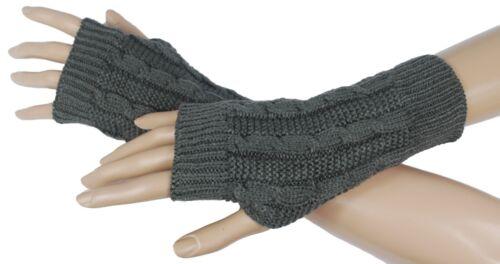Handstulpen Handschuhe  Strick-Handstulpen Armstulpen Pulswärmer Stulpen #1705