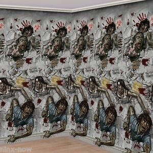 Marvelous Image Is Loading Halloween Decoration Props Scene Setter Zombie Room Wall