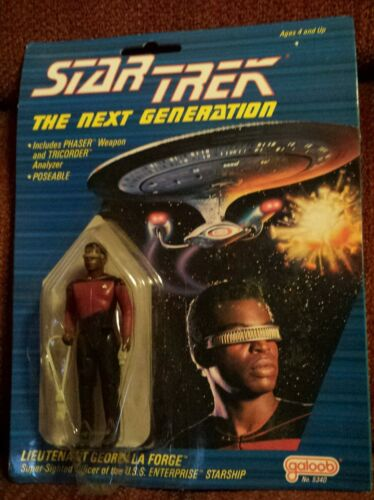 Galoob 1988 Star Trek The Next Generation Lieutenant Geordi La Forge Figure Card