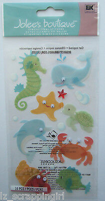 ~BABY SEA CREATURES~ Jolee's Boutique Dimensional Stickers; Seahorses Whale Crab