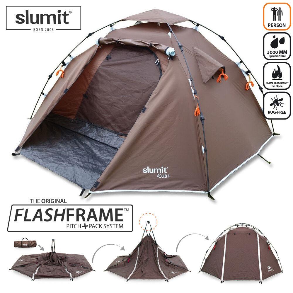 New Quick Pitch instantanée ériger Camping Pop Up Tente Tente Tente 1 - 2 Homme couchette personne Sleeper e9e4b1
