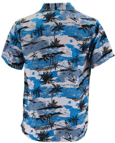 Men/'s Hawaiian Tropical Luau Aloha Beach Party Button Up Casual Dress Shirt