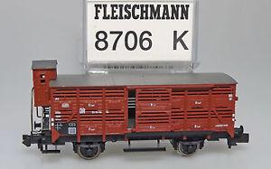 Gueterwagen-Kleinviehwagen-DR-Fleischmann-8706-K-Spur-N-1-160-NEU-OVP-HS2