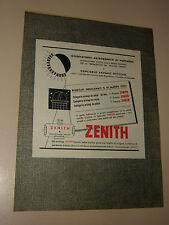 ZENITH OROLOGIO CLOCK=ANNI '50=PUBBLICITA=ADVERTISING=WERBUNG=277