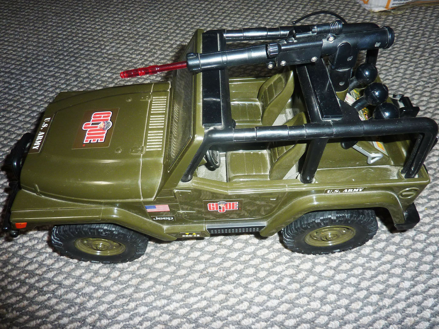 GI Joe ARMY JEEP GRAND motorisé Lumières Sons Works