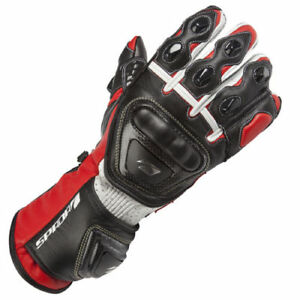 SPADA-CURVE-LEATHER-MOTORCYCLE-GLOVES-RACE-SPORTS-BIKE-RED-BLACK