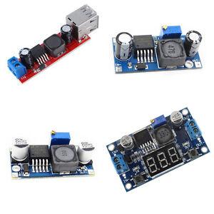 Power Converter Modul Double USB DC-DC LM2596 Step-down LED Voltmeter L2KS