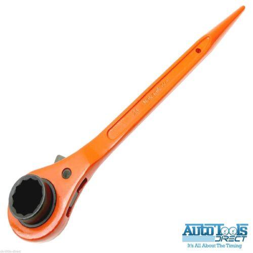 Scaffold Spanner// Ratchet Podger Spanner// Steel Erect Spanner 24mm x 30mm orange