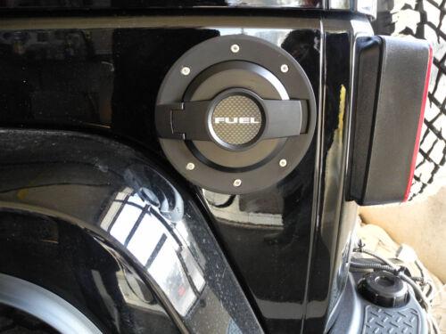 Tanque diafragma tapa del depósito de gasolina abierta Alu negro Jeep Wrangler JK 07-Drake jp-19004-bla