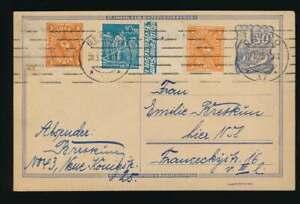 D-Reich-Postreiter-Ganzsache-Beifrankatur-Ortskarte-BERLIN-28-3-23-56762