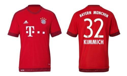 Trikot Adidas FC Bayern 2015-2016 Home - Kimmich [128 bis 3XL] FCB