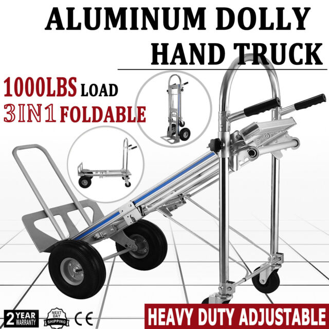 Heavy Duty Aluminum Dolly Hand Truck With 500 Lbs Large Capacity Us Stock For Sale Online Ebay