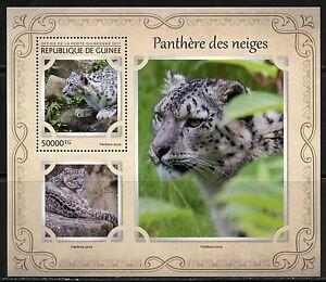 Guinee-2017-Snow-Leopard-SOUVENIR-SHEET-Comme-neuf-NH