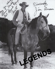 GUNSMOKE - On Horse Jim Arness Autographed 8 x 10 Photo Reprint  GUN-02