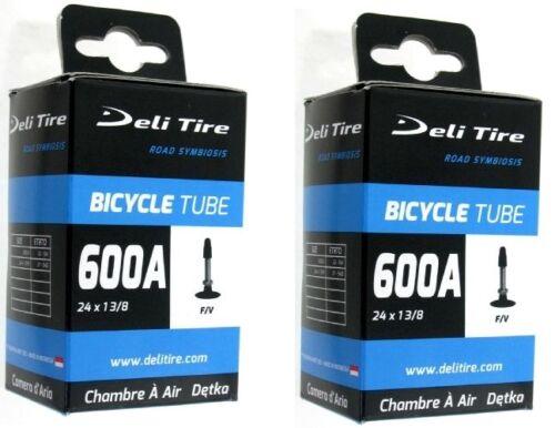 2 Chambres à air vélo 600A 24 x 1 3//8 presta chambre vtt vintage inner tube