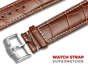 Brown-Fits-ROTARY-Watch-Strap-Band-Genuine-Leather-18-19-20-21-22mm-For-Buckle