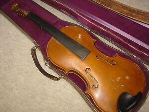 """Travailleur Vieille Stainer Violon """"heinrich Bandzauner Salzbourg 1941"""" Old Violin 1tlg. Dos-afficher Le Titre D'origine à Distribuer Partout Dans Le Monde"""