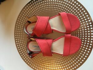 Oroton-Strap-Leather-Sandals-Size-39-5