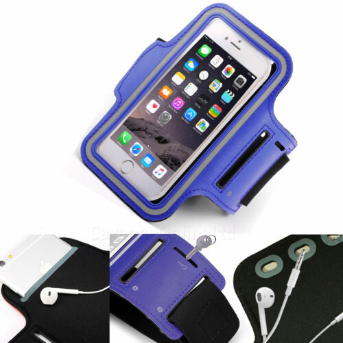 Blue Sports Armband Phone Case Cover Gym Running FOR Samsung Galaxy S10 Plus