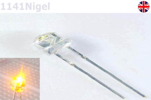 2-2.2V F5 5mm Yellow Straw Hat Superbright LED Light LED lamp  . Pack of 5-10