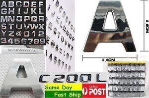 1x-Chrome-3D-Capital-letter-alphabet-digital-for-car-sticker-badge-decal-logo-AU