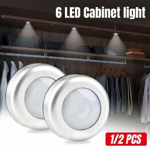 4X-6LED-Motion-Sensor-Lights-PIR-Wireless-Night-Light-Battery-Cabinet-Stair-Lamp