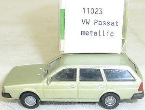 Vw-passat-BJ-1981-vert-metallique-IMU-EUROMODELL-11023-h0-1-87-OVP-4-ga-5-a