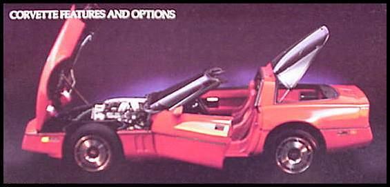 1985 Chevy Corvette ORIGINAL Dealer Brochure, GM NOS Xlnt 85