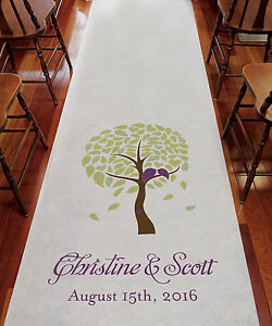 love birds wedding decorations bird tree personalized aisle runner wedding ceremony 5611