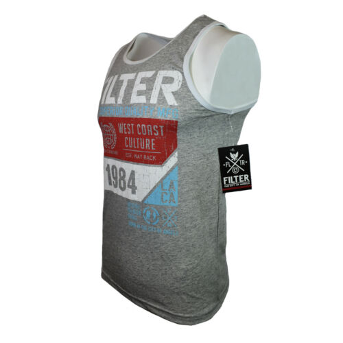 FILTER Men/'s Tank Top 1984 LA West Coast Born in the City of Angels Gray Marble
