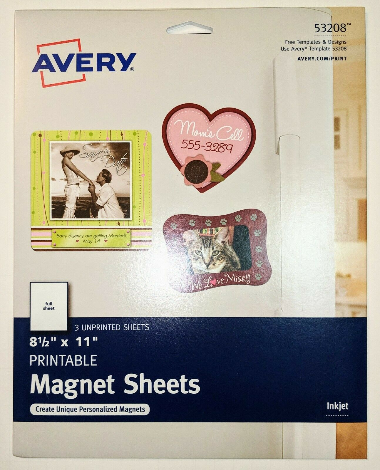 photograph relating to Avery Printable Magnet Sheets identify Avery Dennison Printable Magnet Sheets 8-1/2-within X 11-in just 3/pkg Matte White 53208