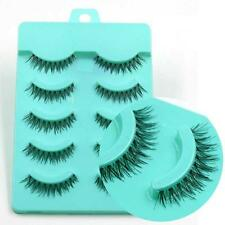 5 PAIRS Natural Eye Lashes Makeup Handmade Cross Long Fake False Eyelashes Wispy