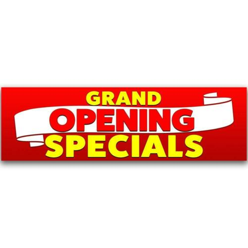 Size Options Grand Opening Specials Vinyl Banner