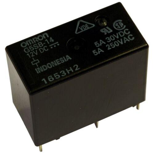 Omron g5sb-14-12 Relais 12v dc 1xum 5a 360r PCB Power Relay 854987