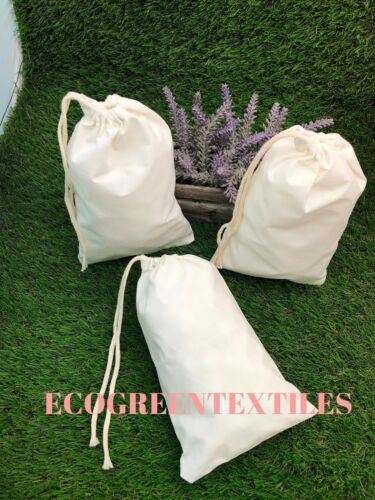 12x20 inches Original thick Cotton Muslin Bags *Nice QUALITY*  Choose Quantities
