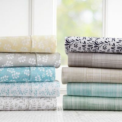 Linen Market Hypoallergenic Ultra Soft Premium 4 Piece Printed Bed Sheet Set