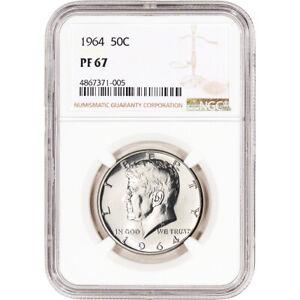 1964-US-Kennedy-Silver-Half-Dollar-Proof-50C-NGC-PF67