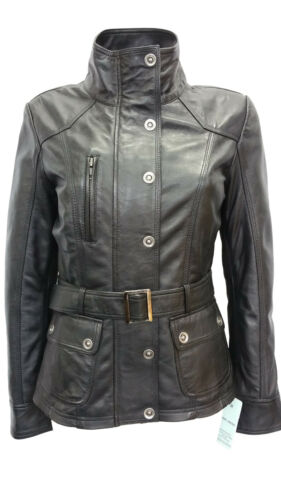 Mode Black Napa Style Polly Designer Nouveau Leather Casual Ladies Jacket Biker 804qOIg