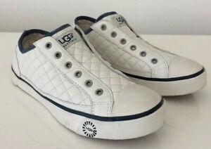 23e35ad4edf Details about Ugg Australia Women's Laela Sneakers White Quilted Navy Blue  Sz 10 $130 NIB NoLi