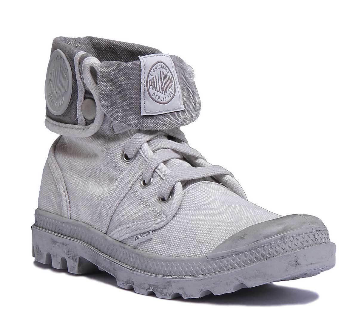 Palladium Pallabrouse Bag Damenschuhe Grau Canvas Stiefel Größe UK 3 - 8