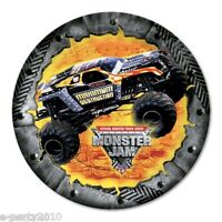 Monster Jam Small Paper Plates (8) Birthday Party Supplies Cake Dessert Trucks