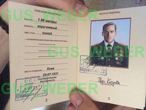 2015 Movie Passport PROP Armie Hammer Illya Kuryakin UNCLE Man from U.N.C.L.E
