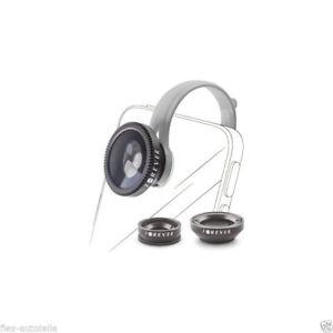 3in1 SL-100 Macro Ampio Angle Fisheye Obiettivo Lente per Smartphone & Tablet