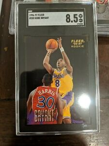 1996-97-Fleer-203-Kobe-Bryant-Lakers-RC-Rookie-HOF-SGC-8-5-NM-MT-PSA-BGS-Comps