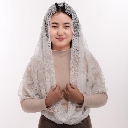 1pc Women Latin Mass Mantilla Head Covering Lace Infinity Catholic Chapel Veil