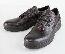 NIB ERMENEGILDO ZEGNA COUTURE Brown Leather Sneakers Shoes 9.5 US 8.5 EU $695