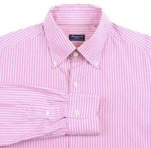 Finamore-1925-Napoli-Pink-White-Black-Striped-Cotton-Button-Up-Dress-Shirt-16-5