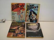 LOT OF 4  ISAAC ASIMOV`S SCIENCE FICTION PULP MAGAZINES  2/80 12/78 11/67 12/76